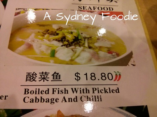 Boiled fish and pickles