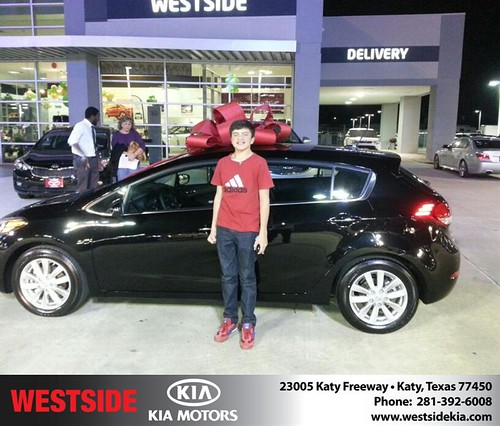Thank you to Andrew Rebeck on your new 2014 #Kia #Forte 5-Door from Rubel Chowdhury and everyone at Westside Kia! #NewCarSmell by Westside KIA