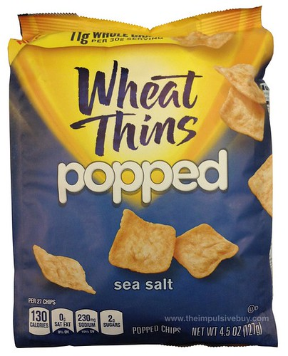 Nabisco Sea Salt Wheat Thins Popped