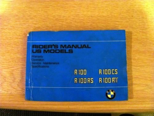 Original Owner Manual