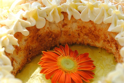 GBBO Great British Bake Off Lemon Curd Angel Food Cake