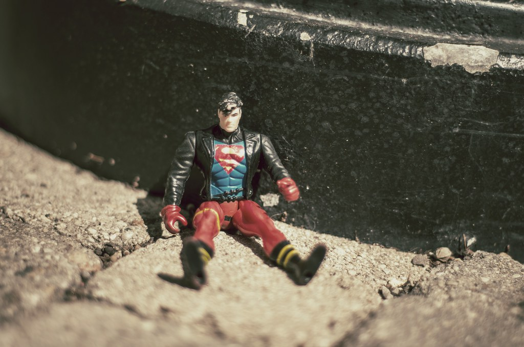 Homeless Superman