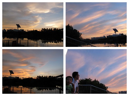 collage sunset