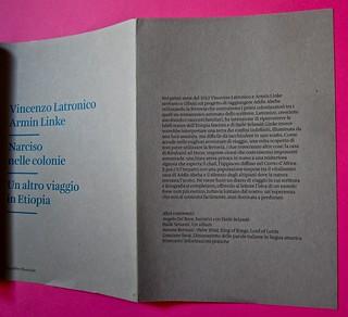 Vincenzo Latromico, Armin Linke, Narciso nelle colonie. Quodlibet Humboldt 2013. Progetto grafico di Pupilla Graphic. Copertina e risvolto della cop. (part.)