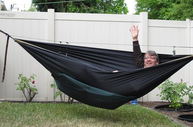 Brent in hammock