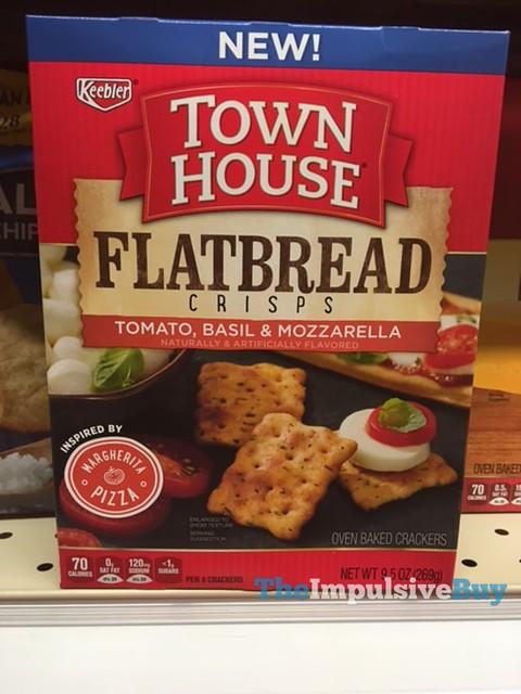 Keebler Town House Tomato, Basil & Mozzarella Flatbread Crisps