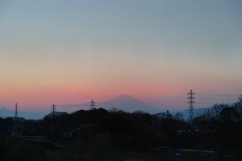 暮れゆく富士