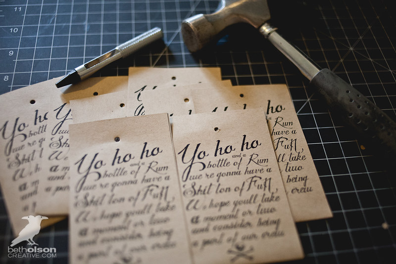 """DIY Wedding Party Proposal Invitation Gifts - Rum for our """"Pirate Crew"""""""