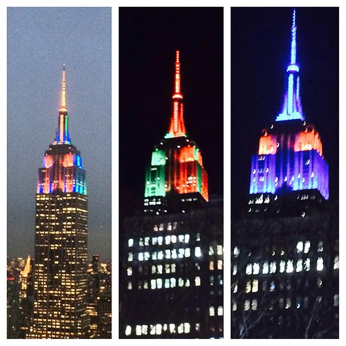 Thrice as colorful-the Empire State Building