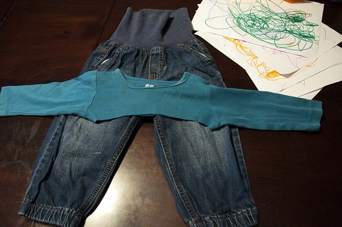 baby jeans upcycled