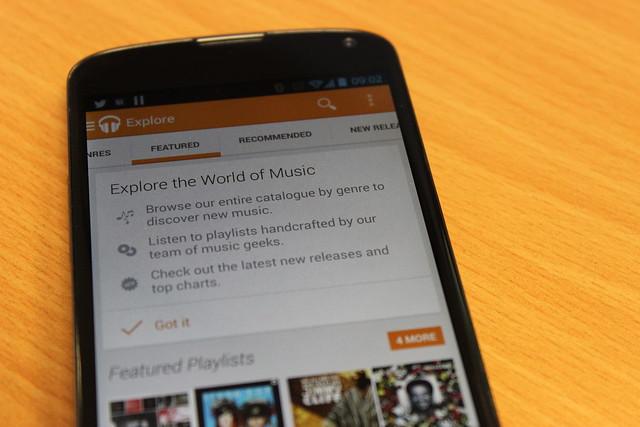 Google Music on a Nexus 4