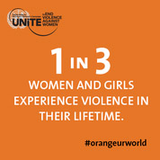 1 in 3 women and girls experience violence in their lifetime #orangeurworld