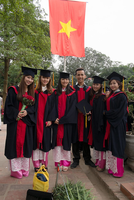 Graduation photos, Temple of Literature, Hanoi, Vietnam