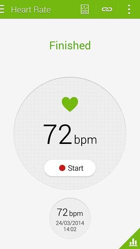 วัดอัตราการเต้นของหัวใจเรียบร้อย