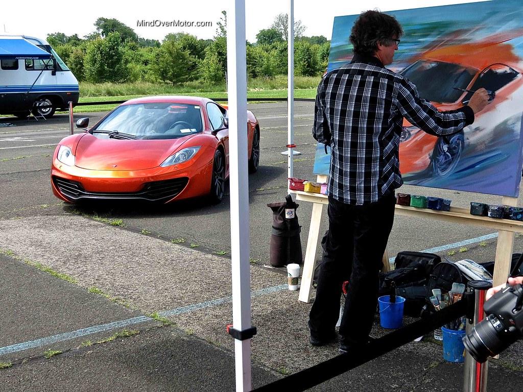 Mclaren MP4-12C being painted
