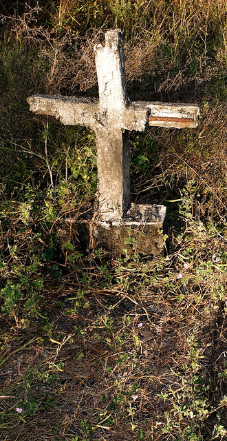 an abandoned cross in Ostional
