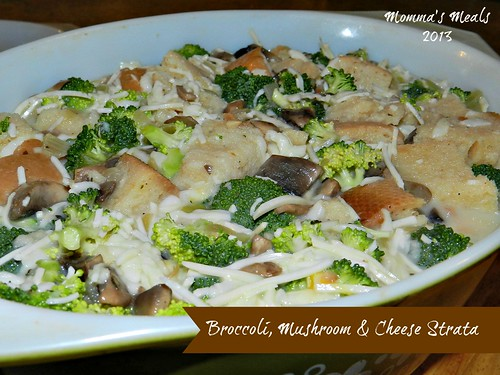 Broccoli Mushroom Cheese Strata #SS (10)