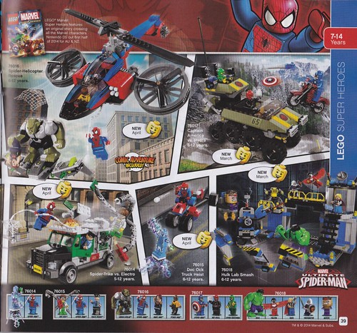 LEGO Marvel Super Heroes 2014 Sets