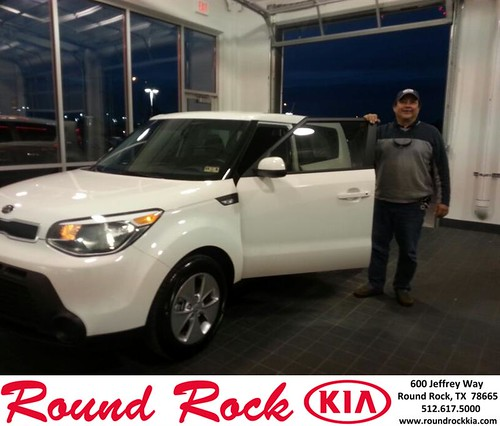 Thank you to Jose  Miranda on your new 2014 #Kia #Soul from Fidel Martinez and everyone at Round Rock Kia! #RollingInStyle by RoundRockKia