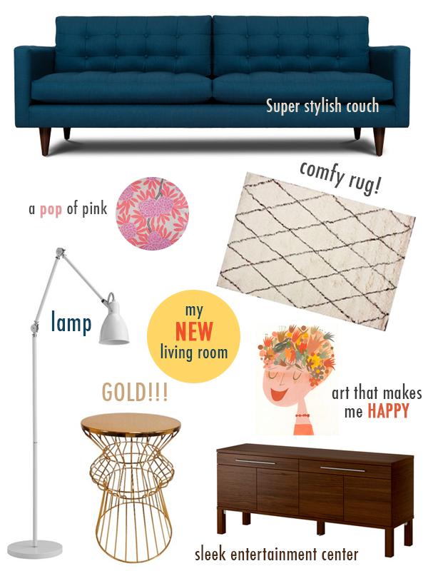 Sunday Morning Sugar :: Living Room Mood Board