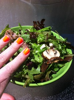 nails and salad