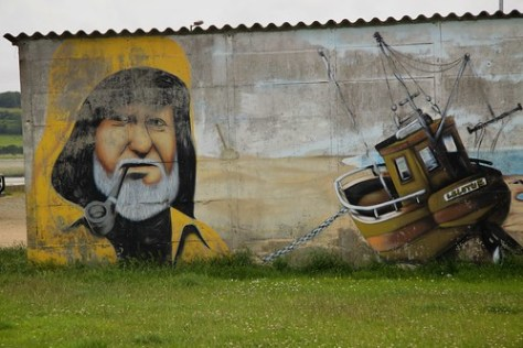Mural near Perros-Guirec water front