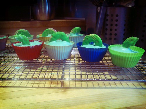Loch Ness monster cakes