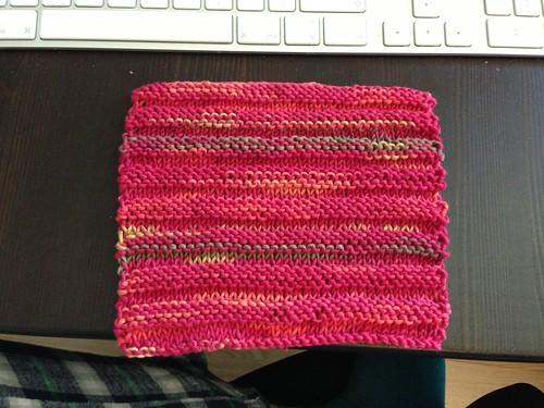 Garter ridges dishcloth