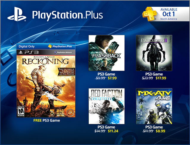 PlayStation Store Update 9-30-2013