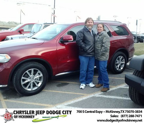 Thank you to Tim Drone on your new 2014 #Dodge #Durango from Sisk Carlos  and everyone at Dodge City of McKinney! #NewCar by Dodge City McKinney Texas