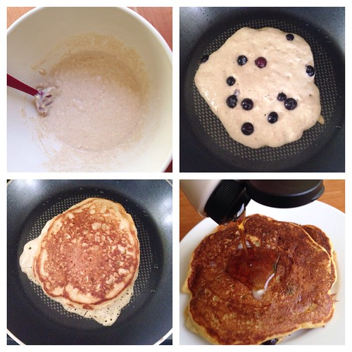 making whole wheat pancakes