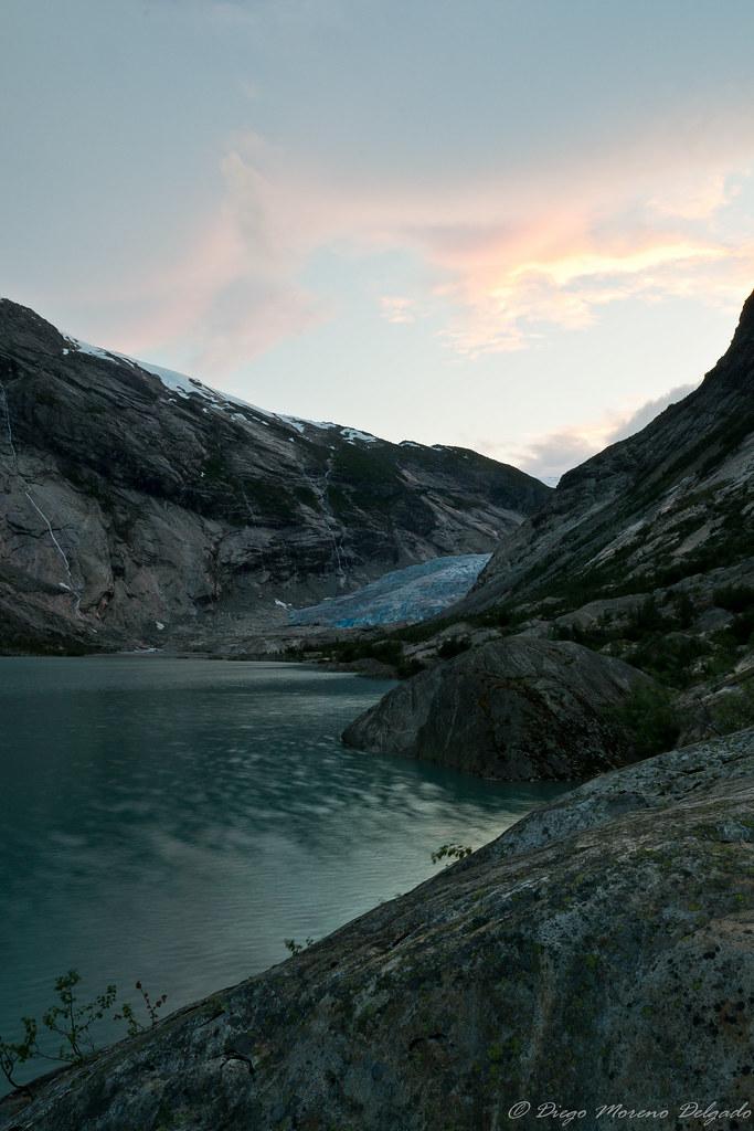 Nigardsbreen, la lengua de un glaciar noruego
