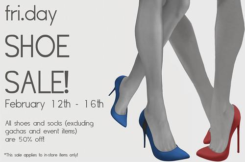 fri.day Shoe Sale! - Feb 12th - Feb 16th