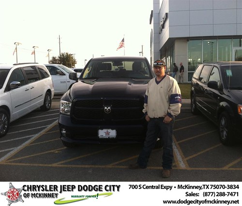 Thank you to Nickolus Fraze on your new 2014 #Ram #1500 from George Rutledge and everyone at Dodge City of McKinney! #NewCar by Dodge City McKinney Texas