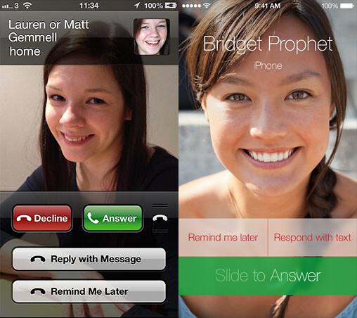Phone on iOS 6 and iOS 7