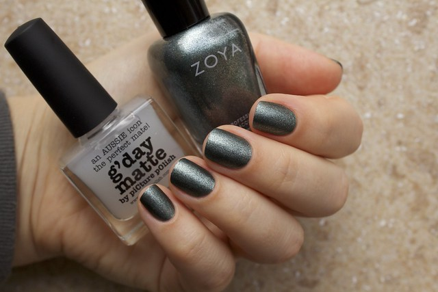 10 Zoya Cassedy + Picture Polish G'day Matte Topcoat