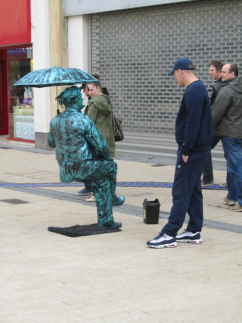 Street performer in Bristol