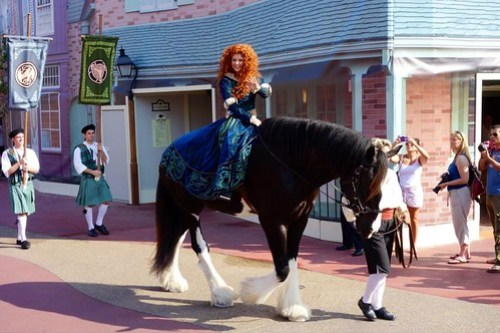 "Merida from ""Brave"" coronation as 11th Disney Princess at Walt Disney World"