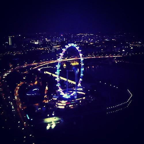 Night Shot of the #singapore  Flyer by @MySoDotCom
