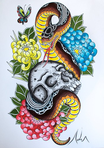 Snake adrian tattoo magic fitzroy melbourne adriantattoo for Koi farm melbourne