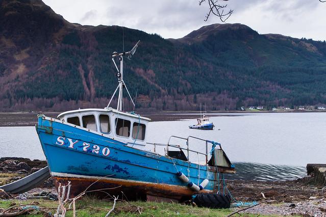 Boats on Loch Duich
