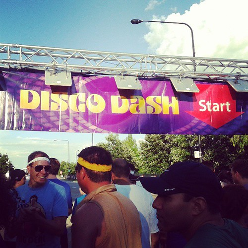 Skies cleared up for the #DiscoDash