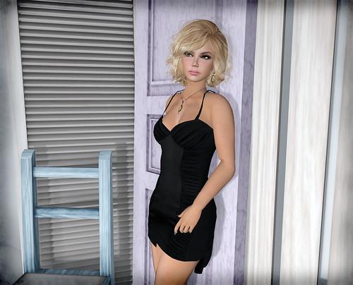 Hudson's Clothing Co. - Cocktails Mesh Slip Dress - Black by Tigist Sapphire