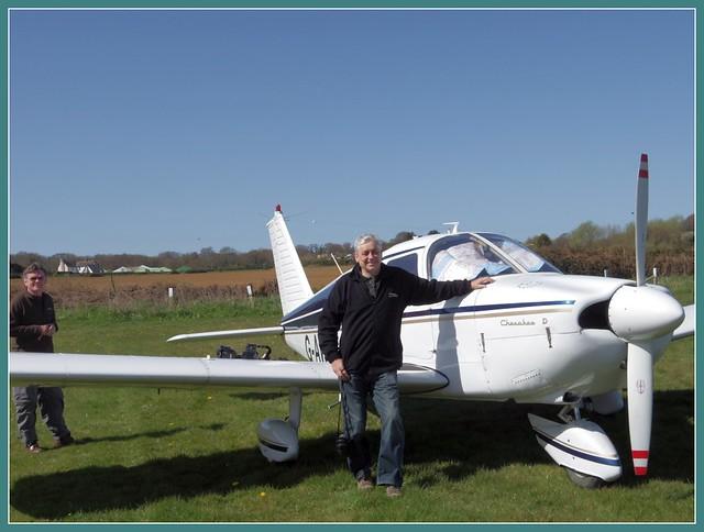 Piper Cherokee and me at Sandown Airstrip