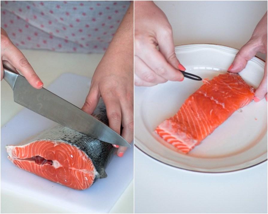 salmón con salsa de cítricos