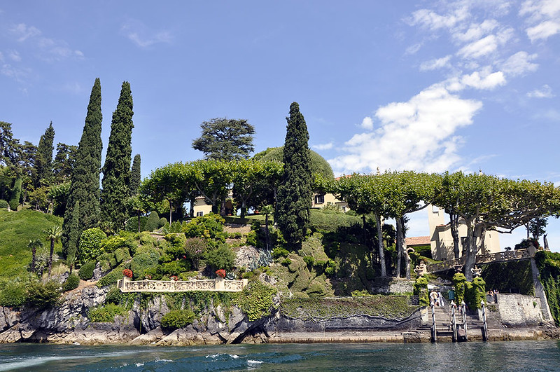 Villa Balbianello-Vista general del embarcadero