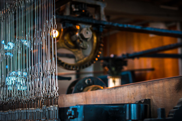 Rigging and gears of the carillon of the Bruges belfry