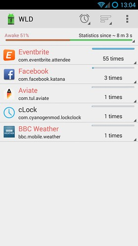 Eventbrite why you keeping my phone awake