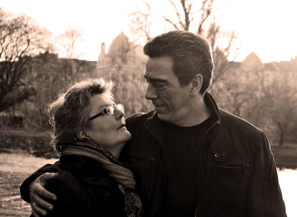 Parents in sepia