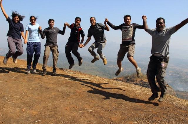 Flying high team FONA at trek to Saras gad